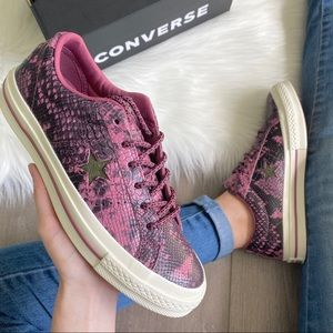 NWT Converse One Star OX Snake Low Top